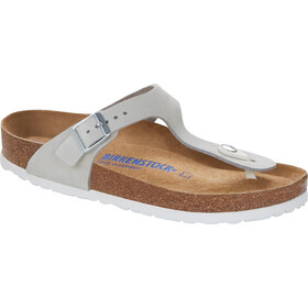 Birkenstock Gizeh Flips Nubuk Leather Regular Women, mineral